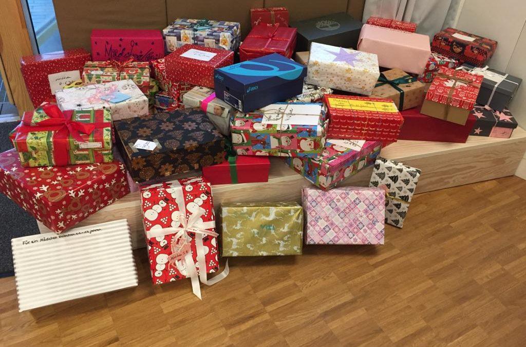 Weihnachten im Schuhkarton: Vielen Dank für die zahlreichen Spenden!